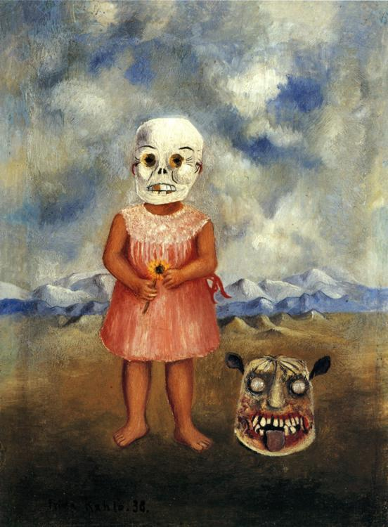 FridaKahlo-Girl-with-Death-Mask-1938
